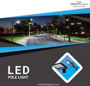 Get the Best Quality LED Pole Lights For Parking Lot,  Street,  hotels,